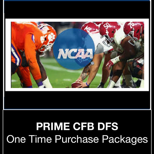 PRIME CFB DFS Package (Daily,Weekly,Monthly,Season)