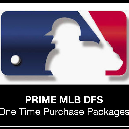 PRIME MLB DFS Package (Daily,Weekly,Monthly,Season)