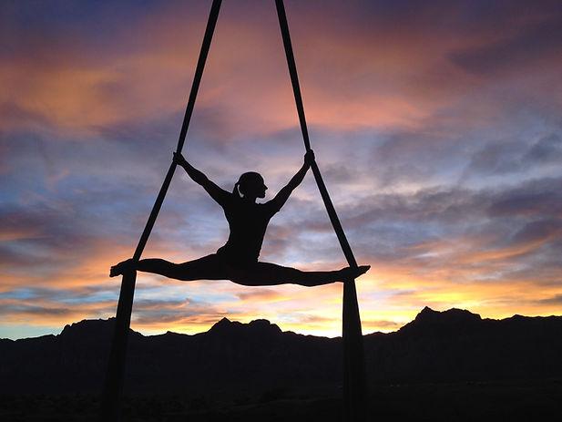 Fliegende Akrobatik