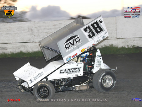 Blake Carrick Makes First Career Sprint Car Start