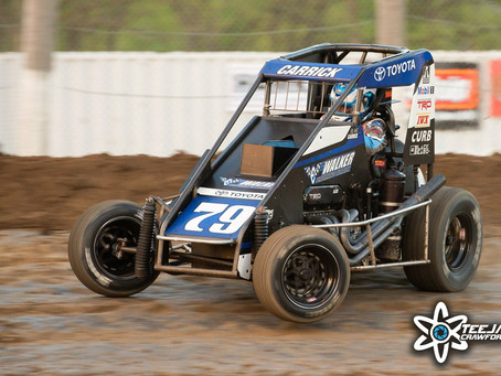 Blake Carrick 12th at Lucas Oil Speedway after Wild Ride at Valley Speedway