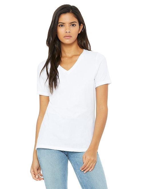 Bella+ Canvas Women's 100% Cotton V‑Neck T‑shirt
