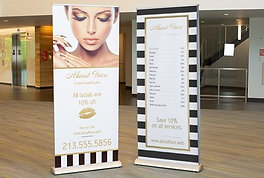 Retractable Roll Up Banner Stand Display 78X33