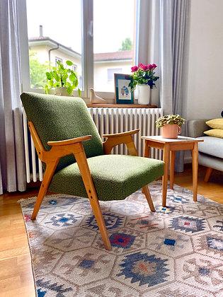 Retro armchair in green