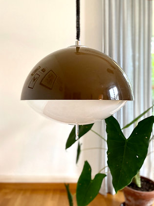 Brown XL space-age pendant lamp