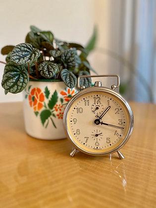 Chrome retro alarm clock