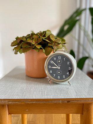 White retro alarm clock