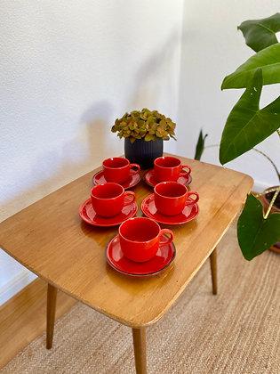 Retro ceramic lava tea set
