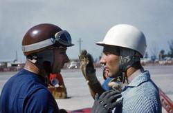 Fangio_Moss,_Sebring_1957_©Gene_Bussian