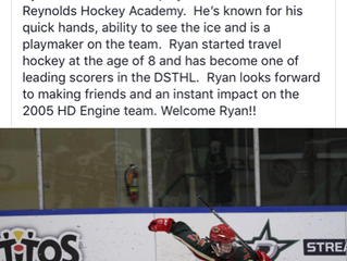 Congrats to R Academy Student, Ryan Murphy, 2005 HQ Engine Hockey commit
