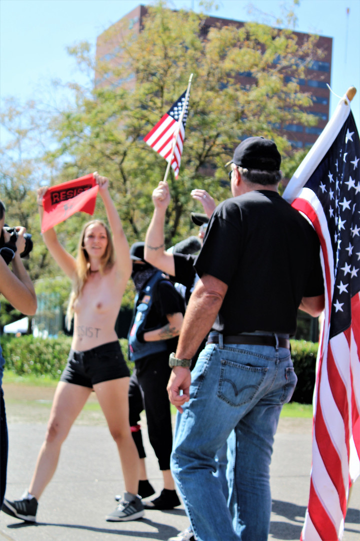 Topless Protesting