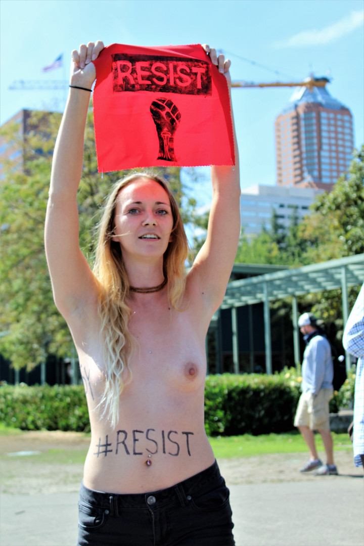 Resisting While Topless