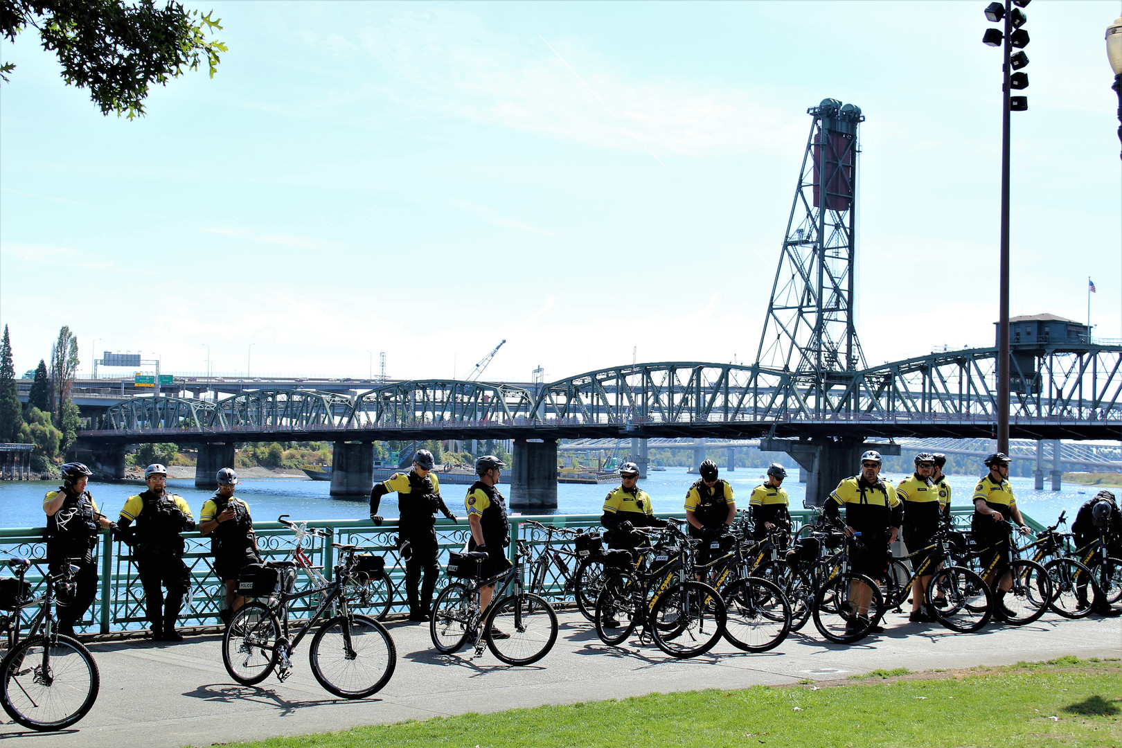 Bike Cops on the Waterfront