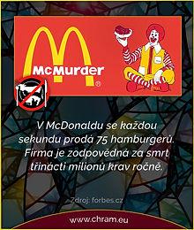 Aktivisté z hnutí Animal Rebellion stále okupují továrnu na hamburgery McDonald's.