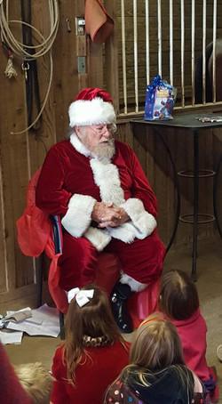 Santa reading story