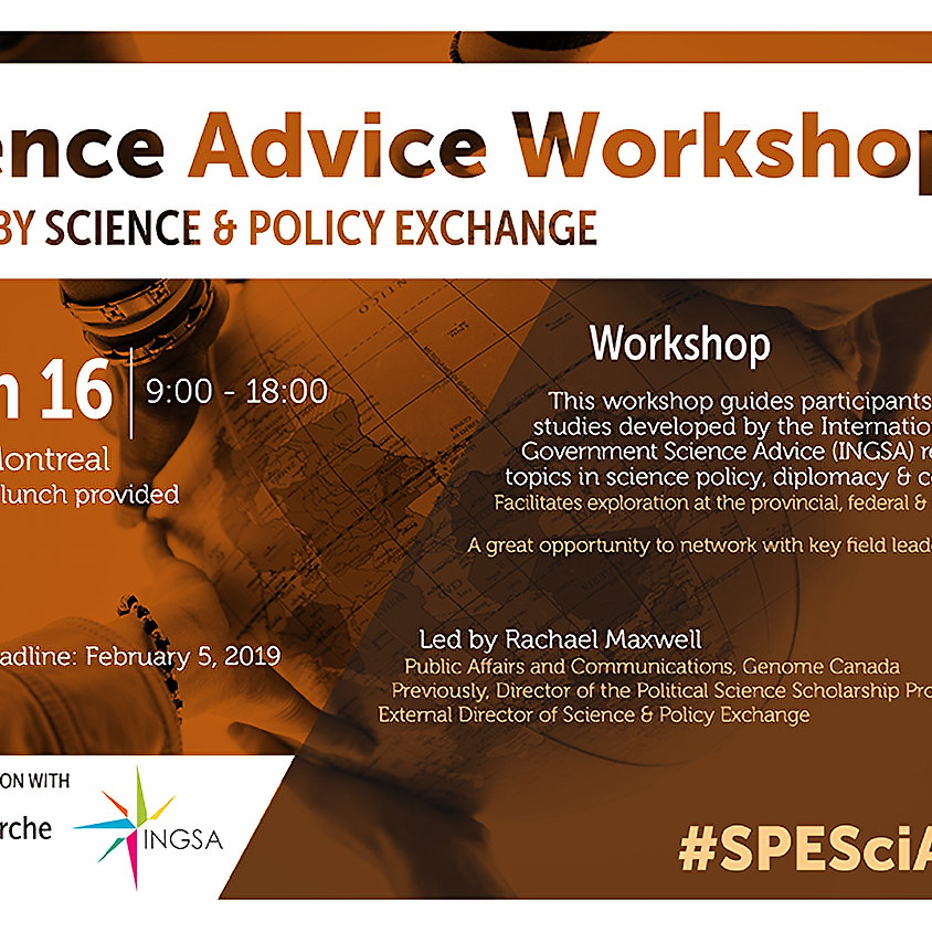 #SPESciAdvice: A science advice workshop for the next generation