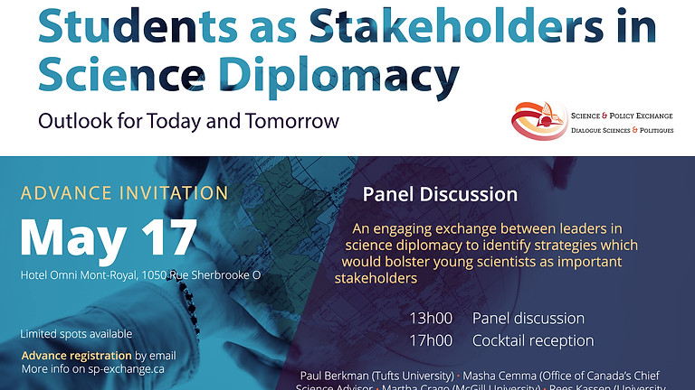 Students as Stakeholders in Science Diplomacy: Outlook for Today and Tomorrow