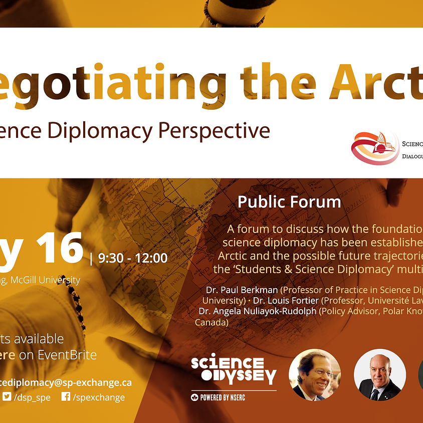 Negotiating the Arctic: A Science Diplomacy Perspective (Public Forum)