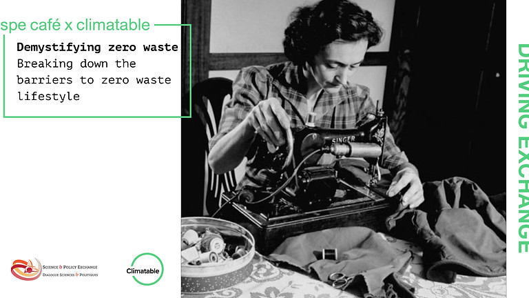 SPE Café: Demystifying zero waste Breaking down the barriers to zero waste lifestyle