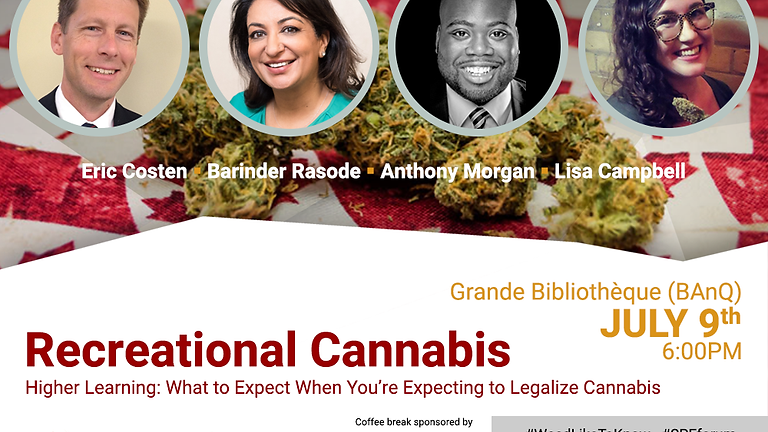 Higher Learning: What to Expect When You're Expecting to Legalize Cannabis (Public Forum)