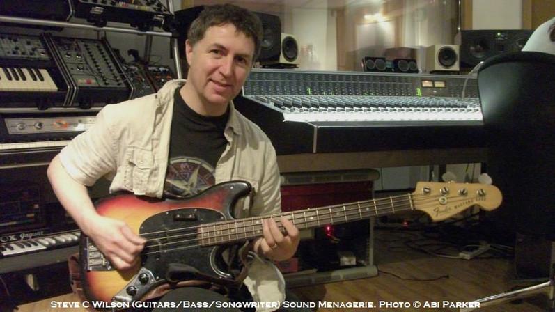 Steve C Wilson (guitars/bass guitars/songwriter) Sound Menagerie. Photo © Abi Parker