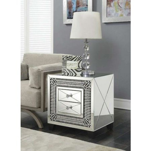 Crystal 2 drawer Lamp Table