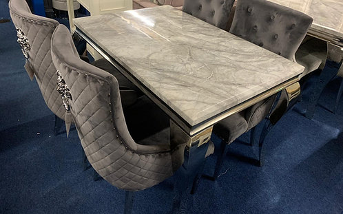 Florence 1.2m Dining Table plus 4 Lions Head Dining Chairs