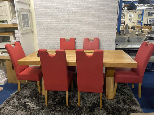 Enzo Dining table (6ft 3) plus 6 Kensington Chairs