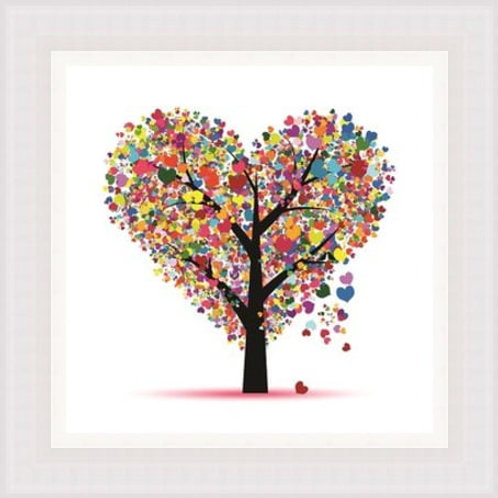 Colourful Love Tree Wall Art