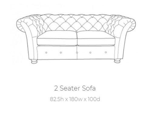 Churchill 2 Seater Sofa by Buoyant