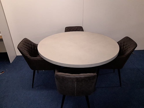 St. James Round Dining table plus 4 Charlie Carver Chairs