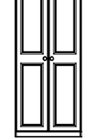 Kinvara by Troscan 2 Door All Hanging 2 Full Mirror Wardrobe