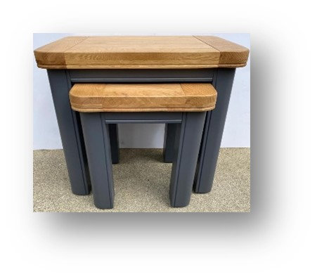 Oxford Blue Nest of Tables