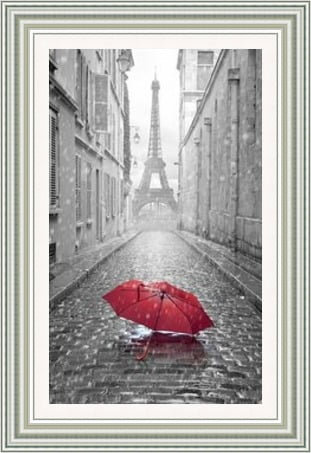 Eiffel Tower Brolly Red