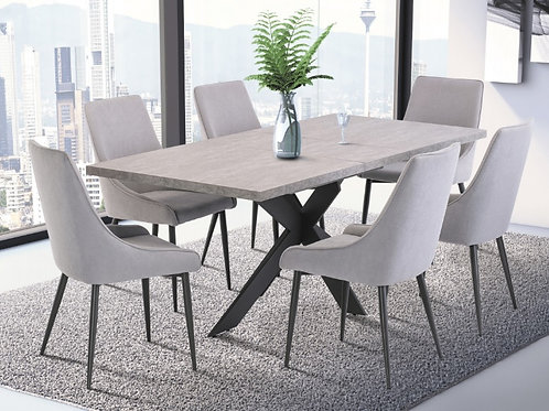 Rimini Extending Dining Table 1.6m to 2m