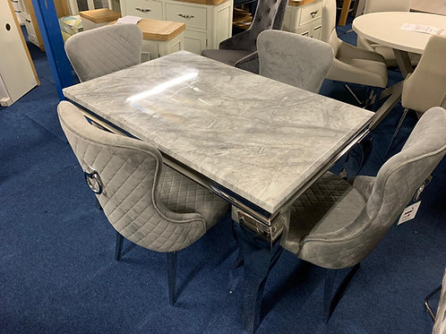 Florence 1.2m Dining Table plus 4 Florence Dining Chairs