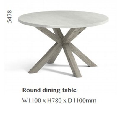Docklands Round Dining Table & 4 Chairs