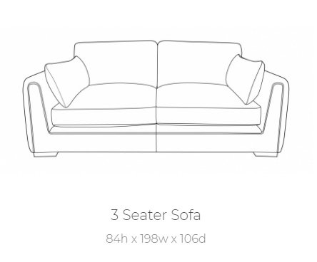 Queensbury 3 Seater by Buoyant