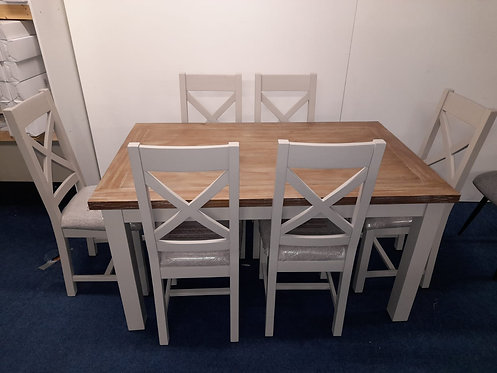 Ancona Dining Table plus 6 Ancona Chairs