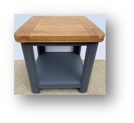 Oxford Blue Lamp Table with Shelf
