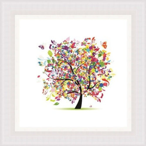Colourful Butterfly Tree Wall Art