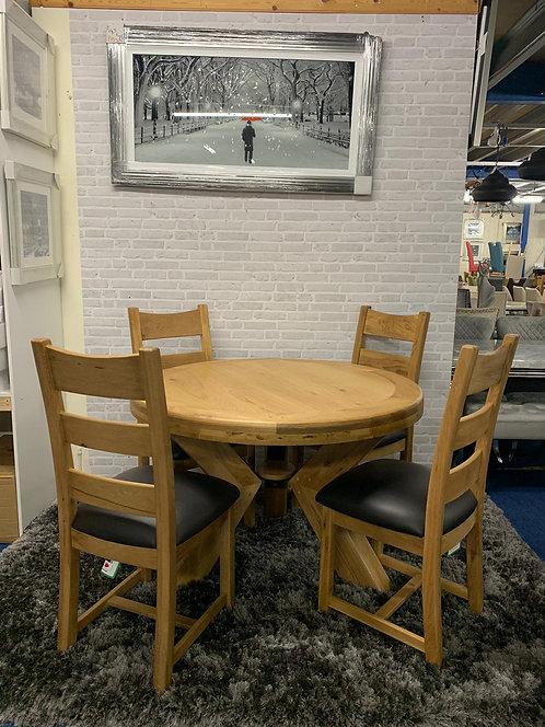 Danube 120cm Table plus 4 Chairs