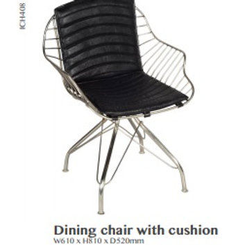 Vector Leather and Iron Dining Chair