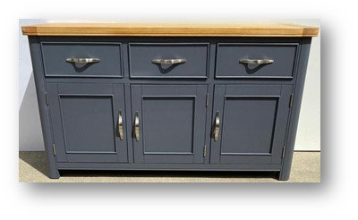 Oxford Blue 3 Door 3 Drawer Sideboard