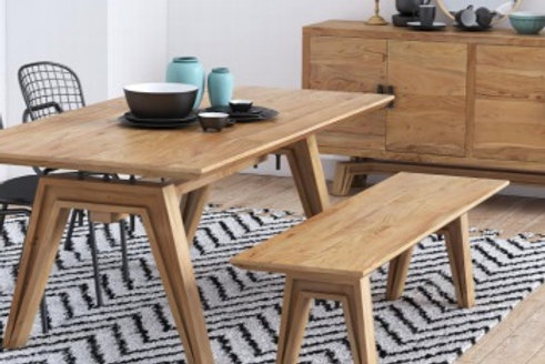 Laval Dining Table, 4 Chairs and a Bench