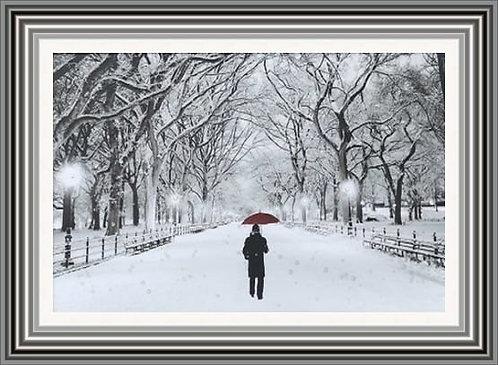 Lonely Winter Walk Wall Art
