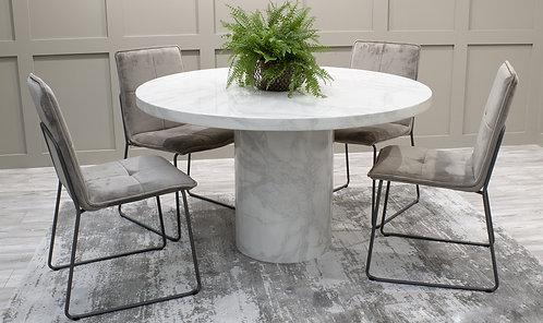 Carra Dining Table Round - Bone White 1300