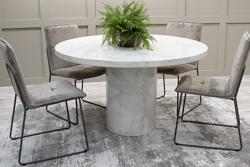 Carra Dining Table Round - Bone White 1300