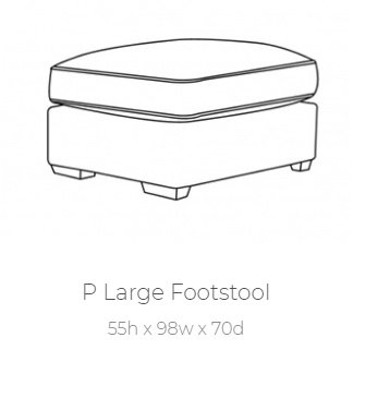 Chicago Large Footstool by Buoyant
