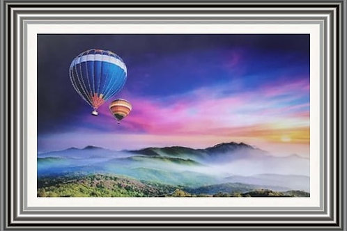 Balloons over Mountains Wall Art